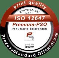 Siegel Premium - ProzessStandard Offsetdruck - DIN ISO 12647