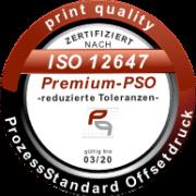 Siegel Premium - PÜrozessStandard Offsetdruck - DIN ISO 12647